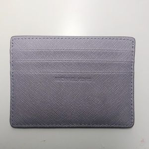 Michael Kors Lilac Leather Card Case